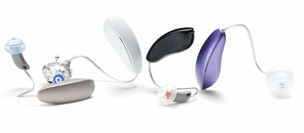 Image of digital hearing aids. Sound Relief Hearing Center of Denver, Colorado, supports Oticon because of their commitment to the latest and best hearing aid technology.